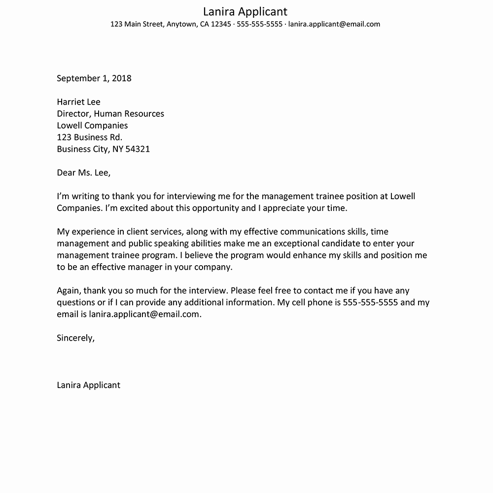 Sample Of Thank You Letters Elegant Get Tips for Writing A Job Interview Thank You Letter