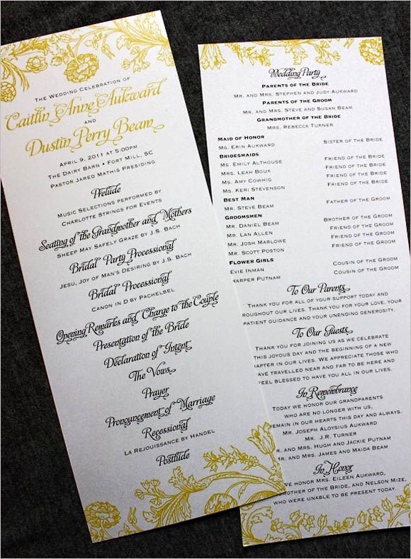 Sample Of Wedding Programme Awesome Wedding Programs Wording On Pinterest