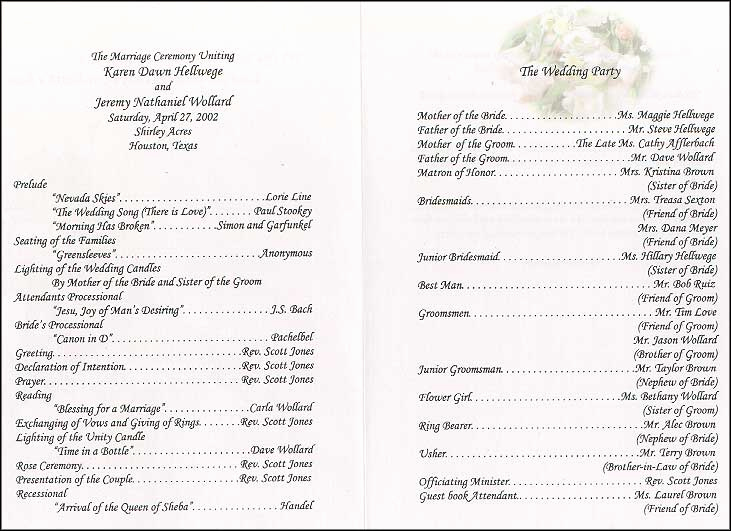 Sample Of Wedding Programme Fresh who Should You Include In Your Wedding Program