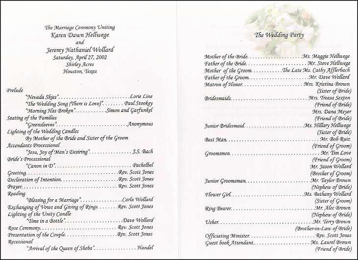 Sample Of Wedding Programme Lovely 17 Best Ideas About Wedding Program Samples On Pinterest