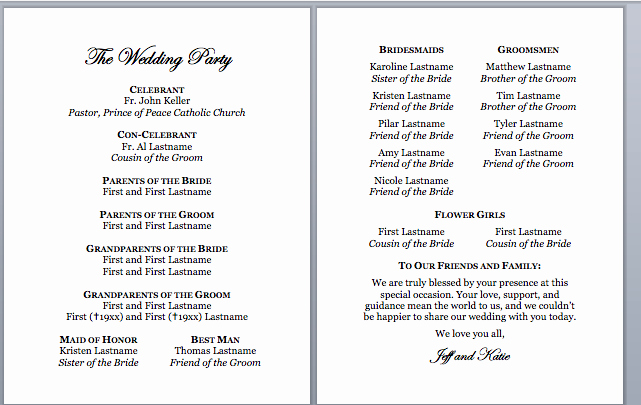 Sample Of Wedding Programme Unique Spirals & Spatulas Catholic Wedding Program