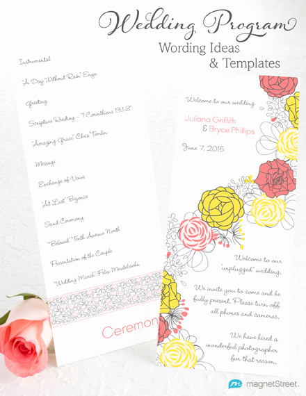Sample Of Wedding Programs Best Of Wedding Program Wording