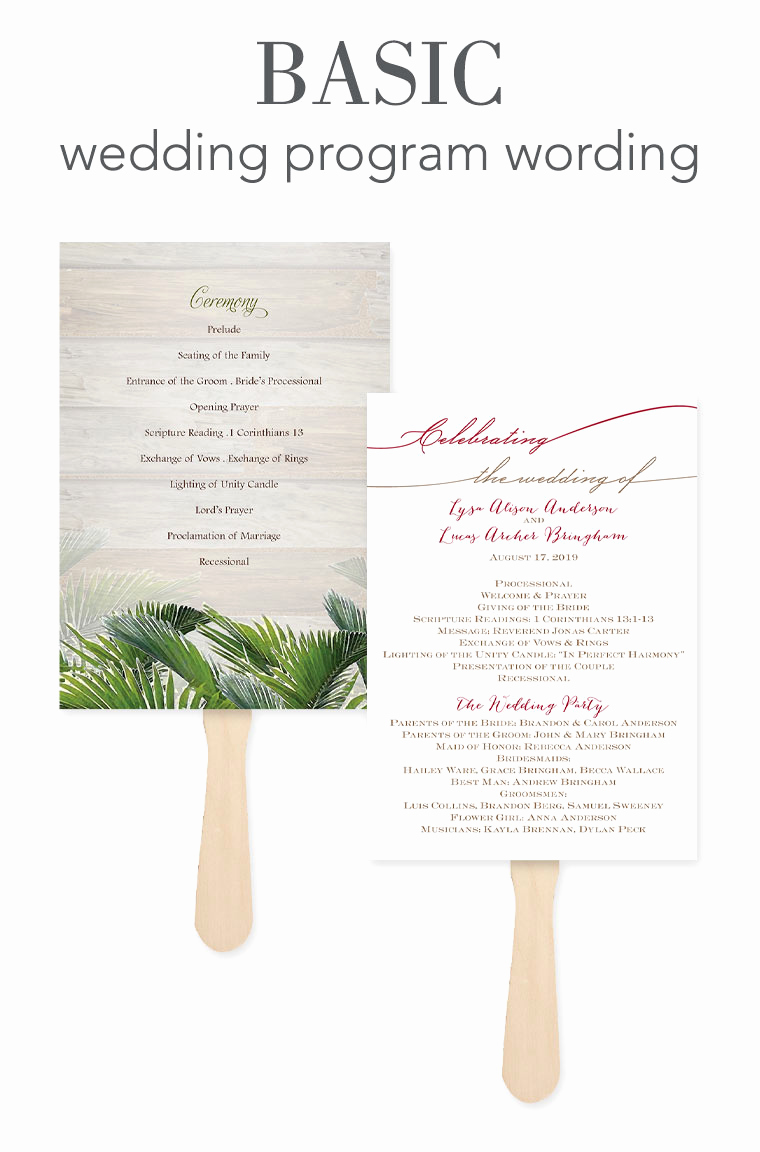 Sample Of Wedding Programs Elegant How to Word Your Wedding Programs