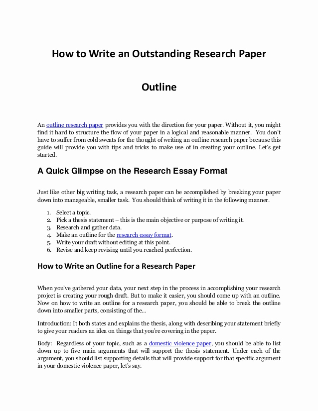 Sample Outlines for Research Papers Awesome Writing An Impressive Outline Research Paper