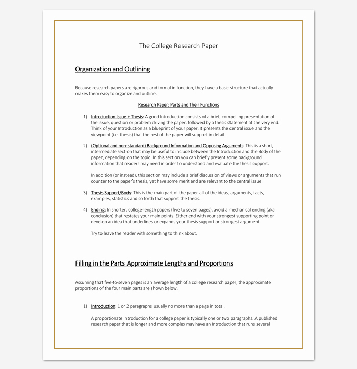 Sample Outlines for Research Papers Beautiful Research Paper Outline Template 36 Examples formats