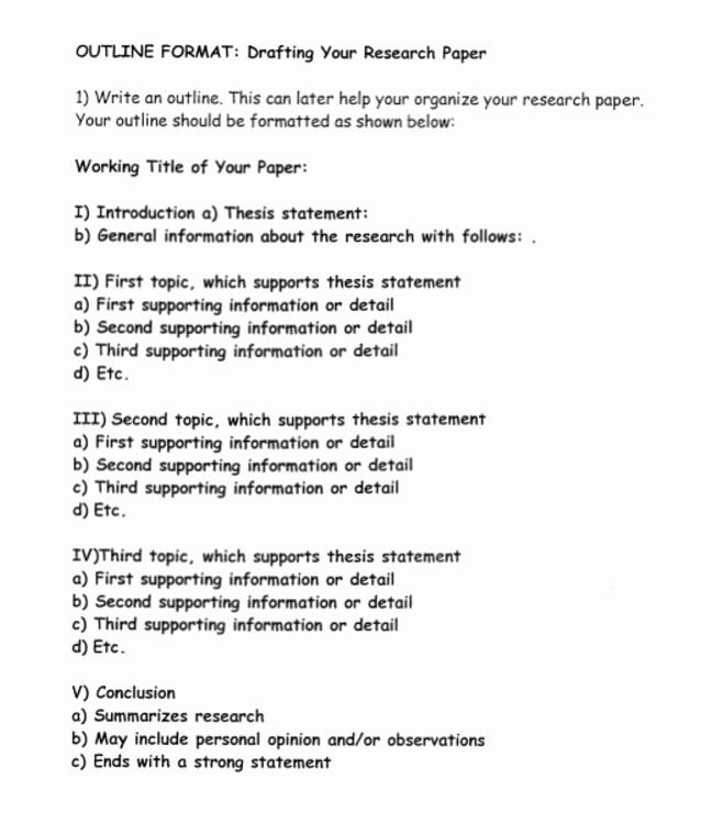 Sample Outlines for Research Papers Best Of How to Write A Research Paper Outline and Examples at
