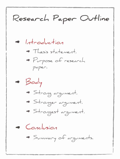 Sample Outlines for Research Papers Best Of Research Paper Outline Examples