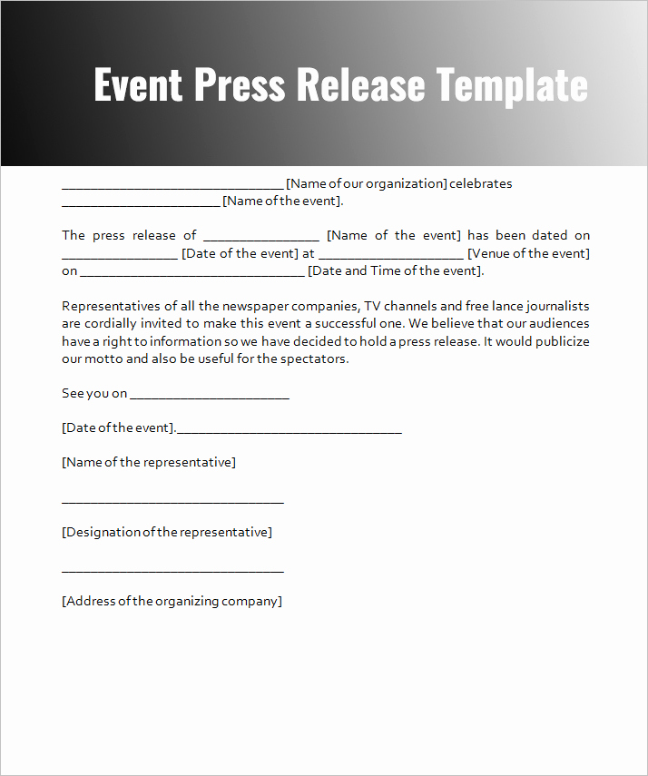 Sample Press Release Template Best Of Press Release Templates Free Word Pdf Doc formats
