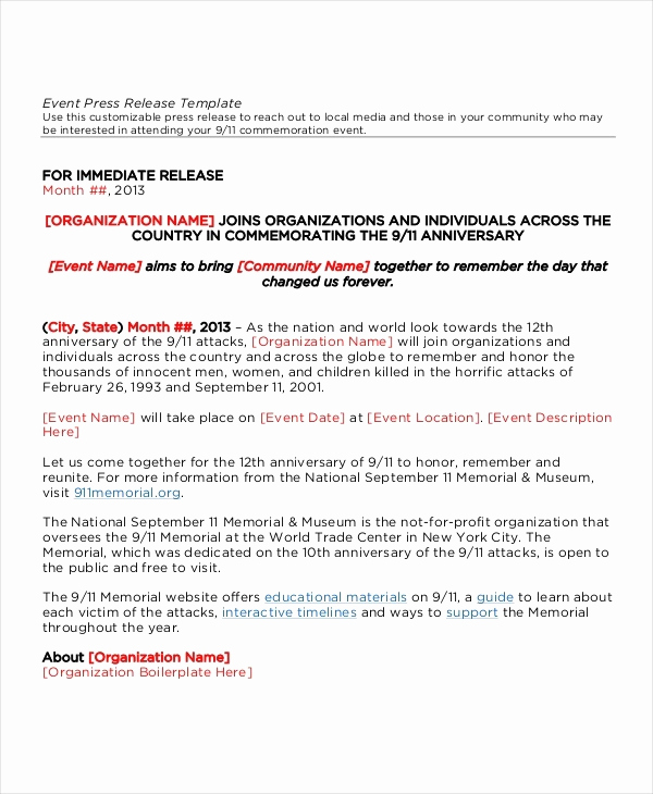 event press release template five latest tips you can learn when attending event press release template