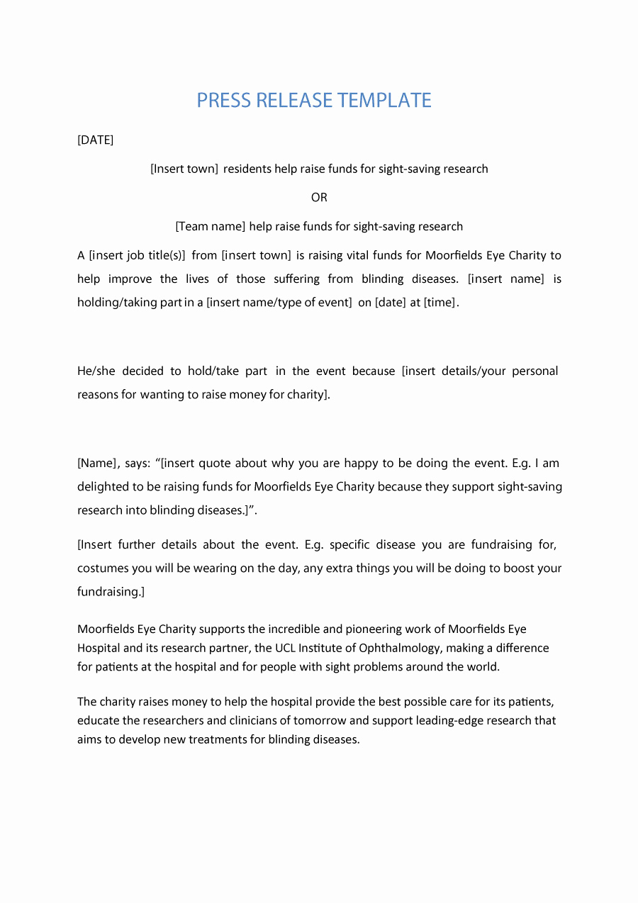 Sample Press Release Template Unique New Employee Announcement Press Release Sample Daily
