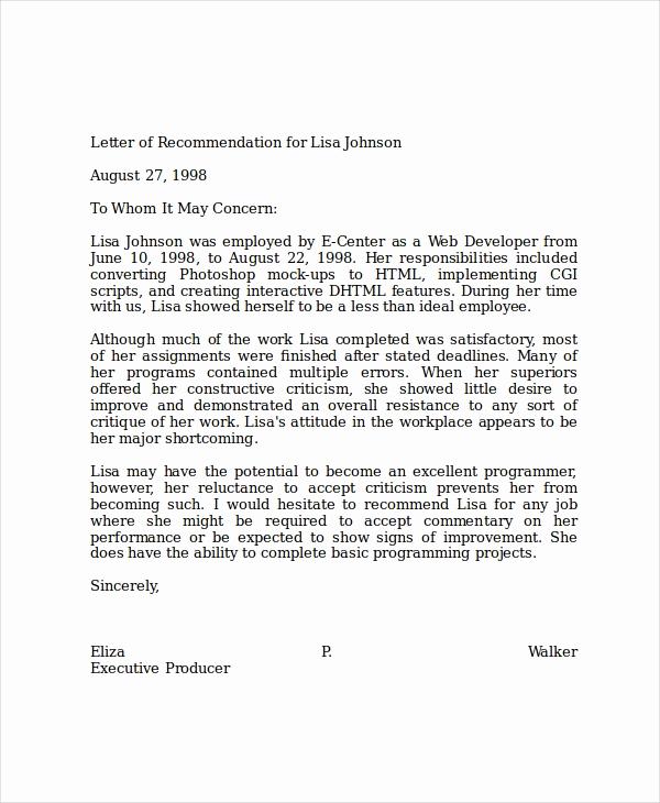 Sample Recommendation Letter for Job Elegant 19 Professional Reference Letter Template Free Sample