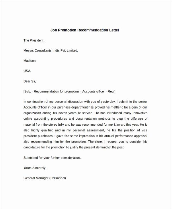 Sample Recommendation Letter for Job Elegant Sample Job Re Mendation Letter 6 Documents In Pdf Word