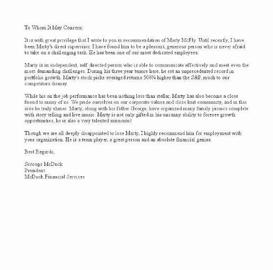 Sample Recommendation Letter for Job Luxury Sample Letter Of Re Mendation
