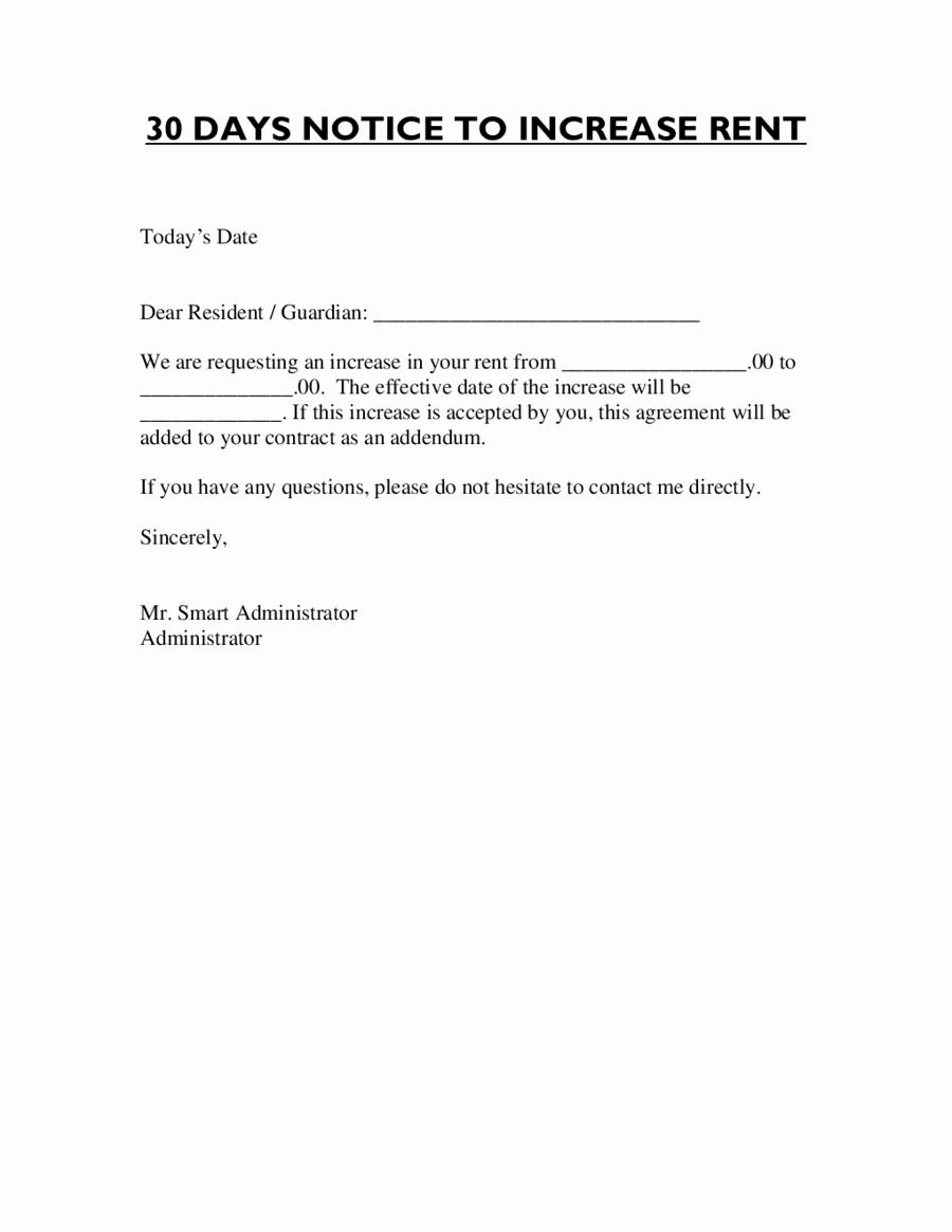 Sample Rent Increase Letter Best Of Letter format for Rent Increase Edit Fill Sign Line