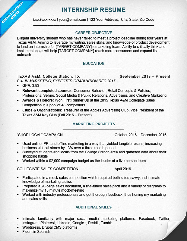 Sample Resume College Student Inspirational College Student Resume Sample & Writing Tips