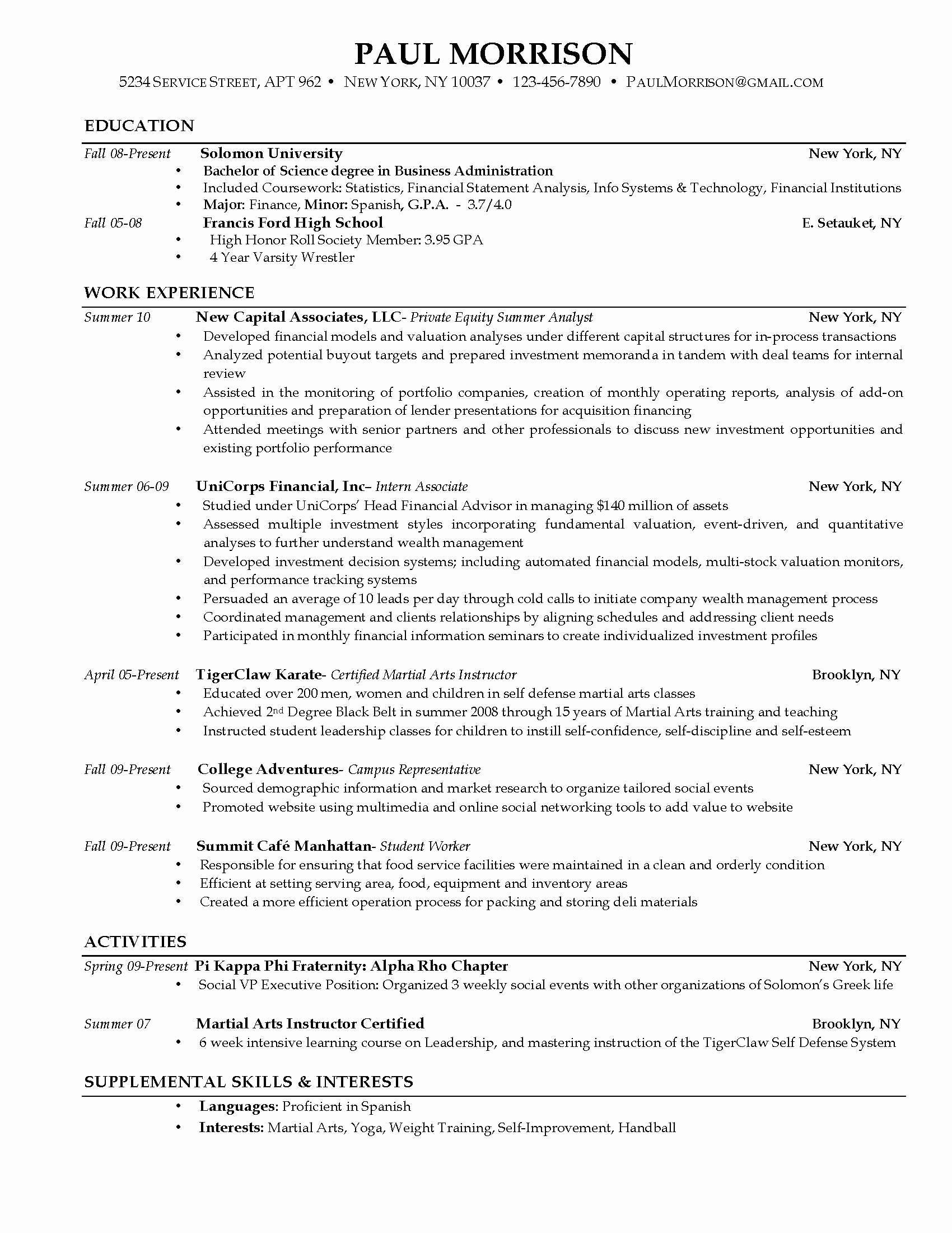 Sample Resume College Student Unique 301 Moved Permanently