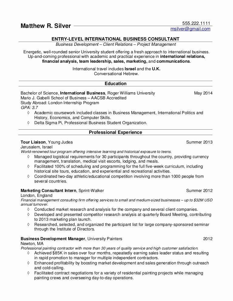 Sample Resume College Student Unique Resume Samples for College Students and Recent Grads