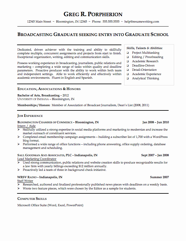 Sample Resume College Student Unique Sample Resumes Resumewriting