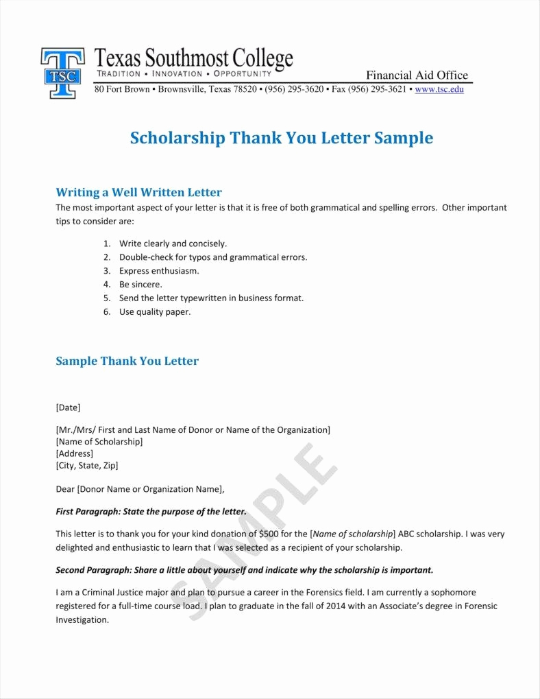 Sample Scholarship Thank You Letter Awesome 9 Donation Acknowledgment Letter Templates Free Word Pdf
