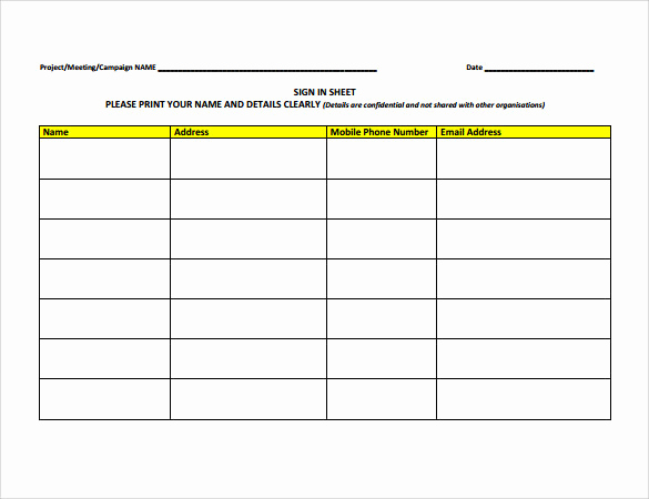 Sample Sign In Sheet Beautiful 34 Sample Sign In Sheet Templates Pdf Word Apple Pages