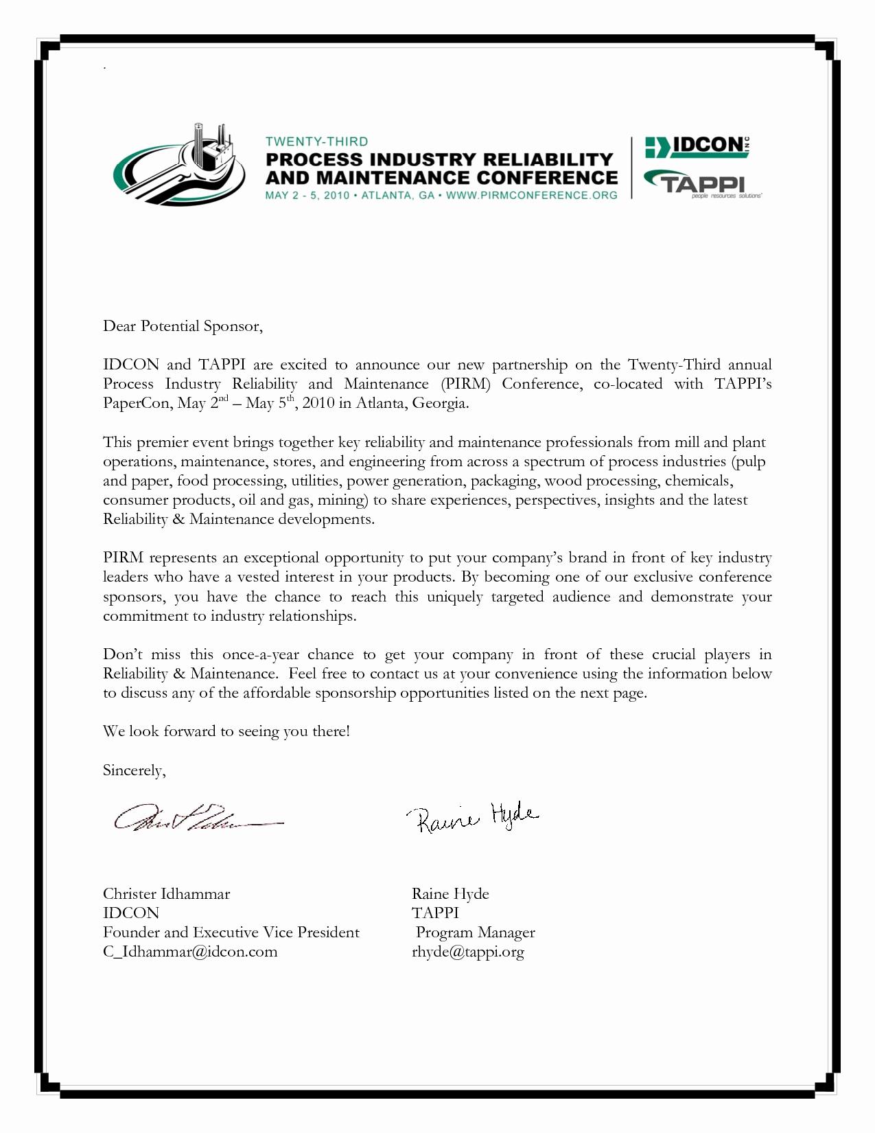 Sample Sponsorship Request Letter New Best S Of Sample Sponsorship Letter Templates