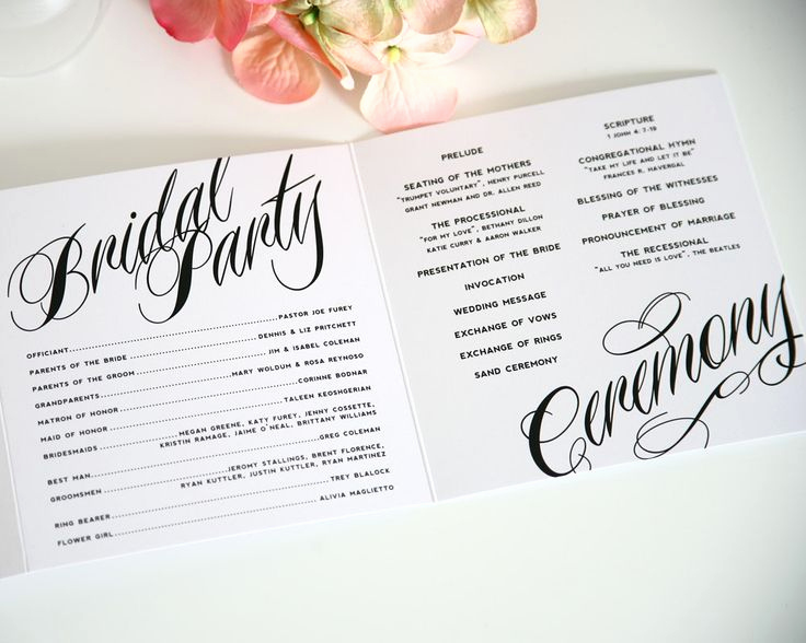 Sample Wedding Ceremony Program Inspirational Best 25 Wedding Program Samples Ideas On Pinterest