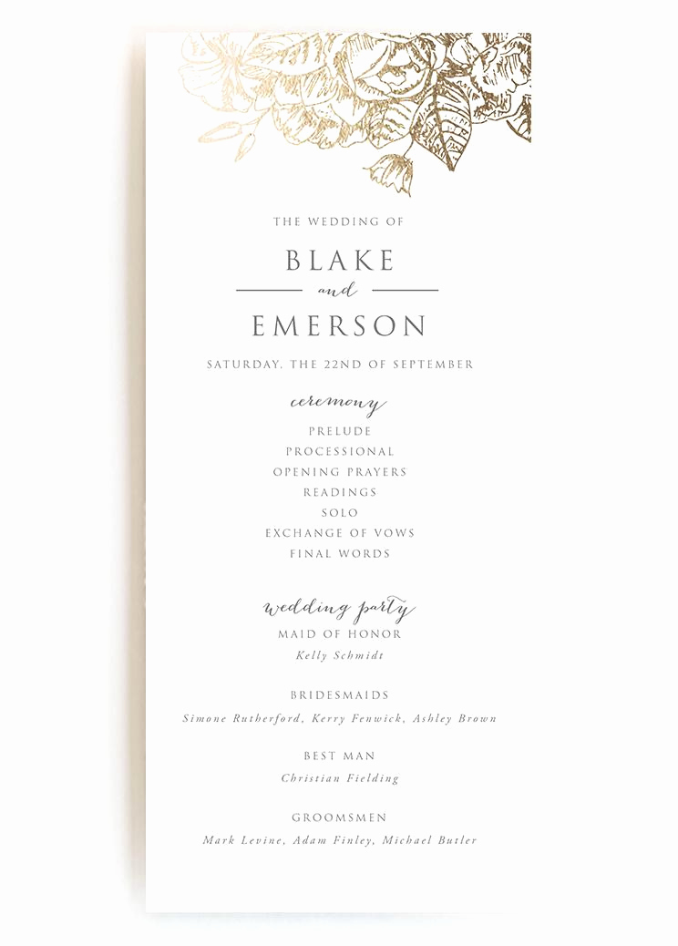 Sample Wedding Ceremony Program Inspirational Wedding Programs Wedding Program Wording