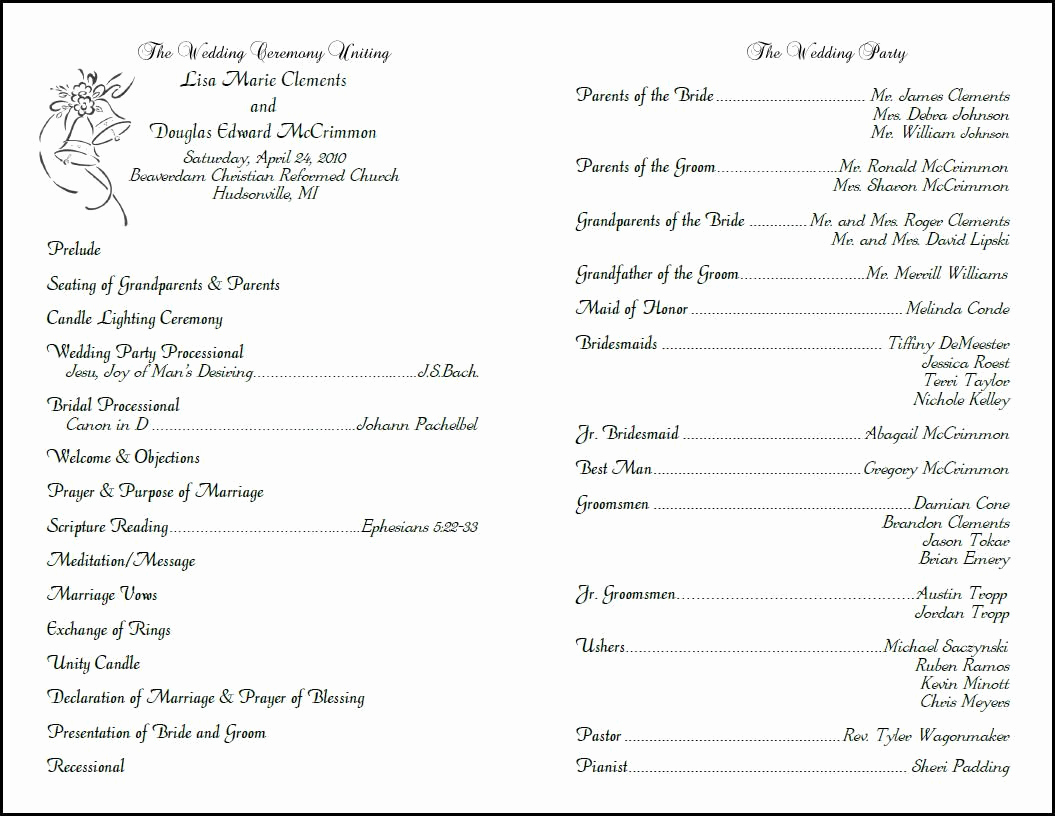 Sample Wedding Ceremony Program Lovely Custom Design Wedding Programs Programs for Weddings