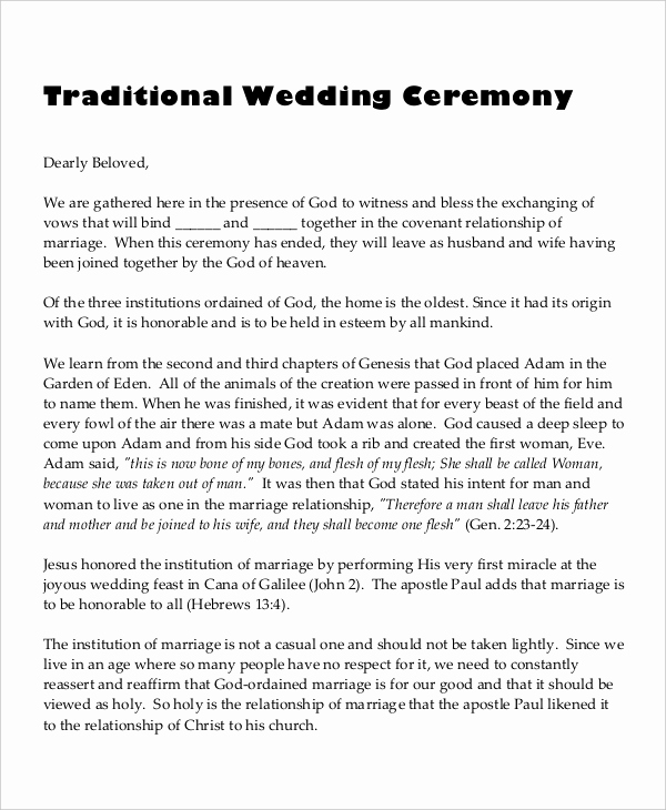 Sample Wedding Ceremony Program Luxury 10 Wedding Program Templates Free Sample Example