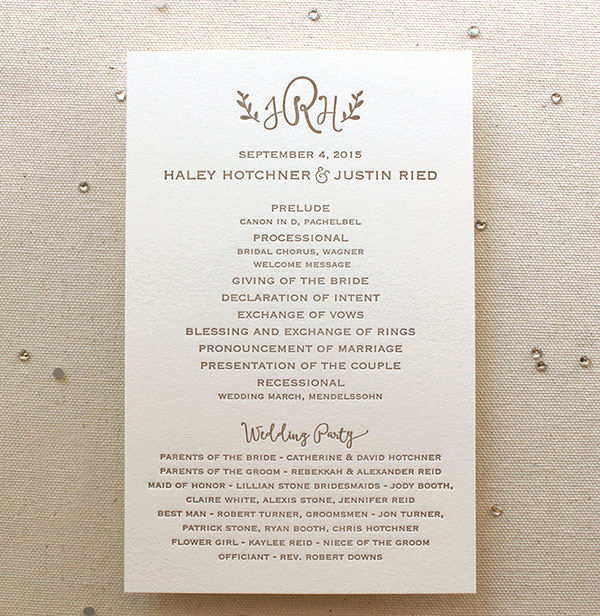 Sample Wedding Ceremony Program Unique 10 Simple Wedding Programs Mywedding