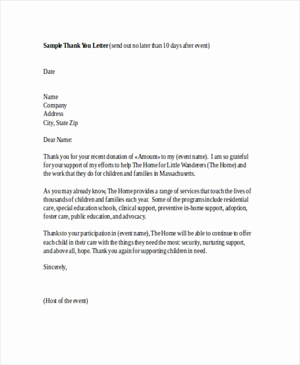 Samples Of Thankyou Letters Fresh 74 Thank You Letter Examples Doc Pdf