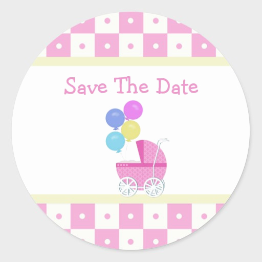 Save the Date Baby Shower Awesome Save the Date Baby Shower Stickers