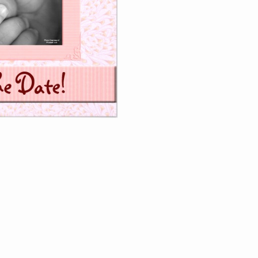 Save the Date Baby Shower Beautiful Baby Shower Save the Date Pink and Brown Girl 5 25x5 25