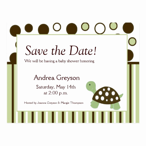 Save the Date Baby Shower Beautiful Save the Date Baby Shower Mod Dot Turtle Postcards