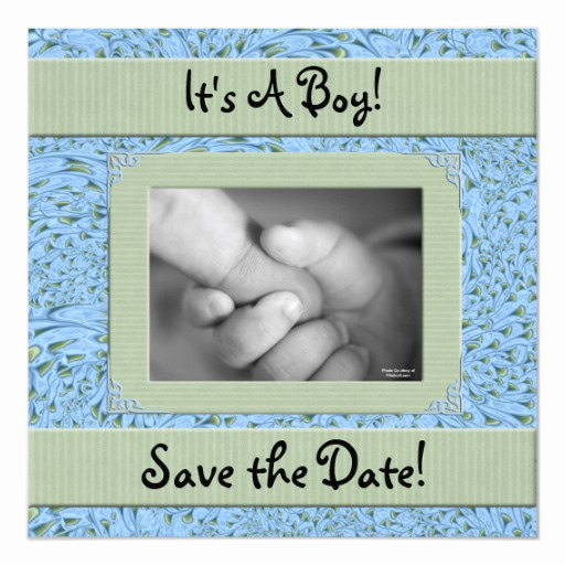 Save the Date Baby Shower Fresh Baby Shower for A Boy Save the Date Card