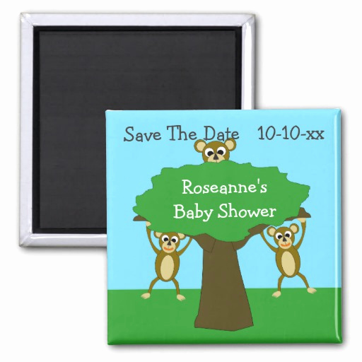 Save the Date Baby Shower Inspirational Monkey Save the Date Baby Shower Magnets