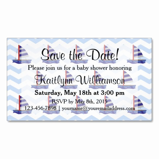 Save the Date Baby Shower Luxury Save the Date Baby Shower Sail Boats Magnetic Card
