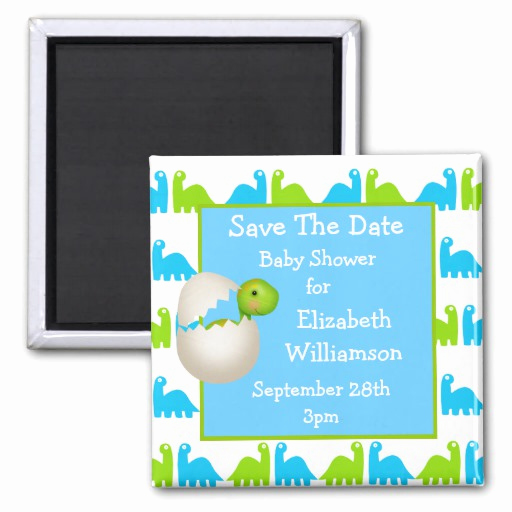 Save the Date Baby Shower New Newly Hatched Dinosaur Save the Date Baby Shower 2 Inch