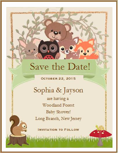 Save the Date Baby Shower Unique Woodland forest Animals Baby Shower Save the Date Cards