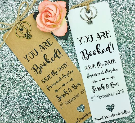 Save the Date Bookmarks Best Of Bookmark Save the Date evening Card Wedding Invitation