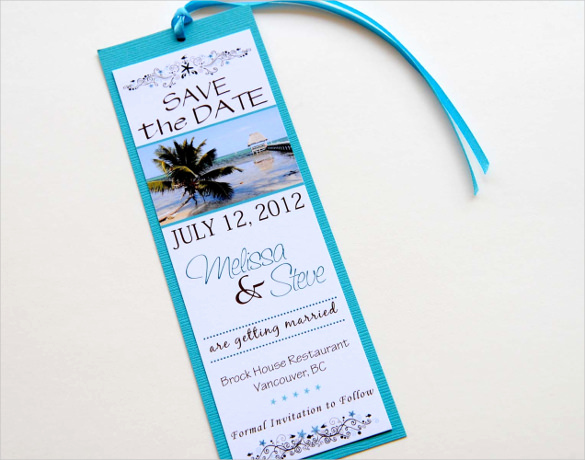 Save the Date Bookmarks Elegant Save the Date Bookmark Template – 69 Free Psd Ai Eps
