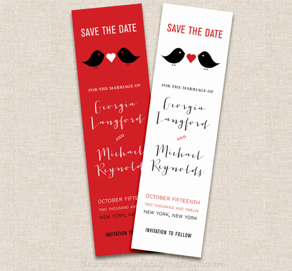 Save the Date Bookmarks Fresh Save the Date Bookmark Template – 69 Free Psd Ai Eps
