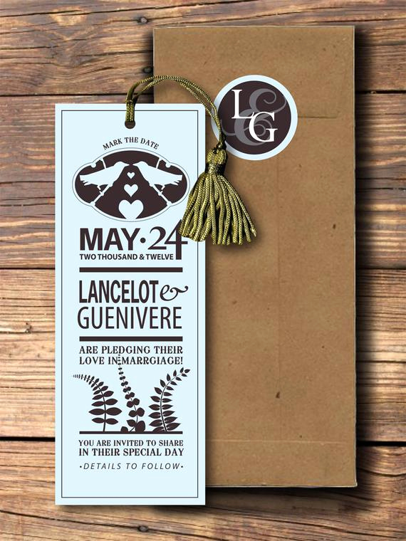 Save the Date Bookmarks Lovely Custom Wedding Bookmark Save the Dates by Pepitapress On Etsy
