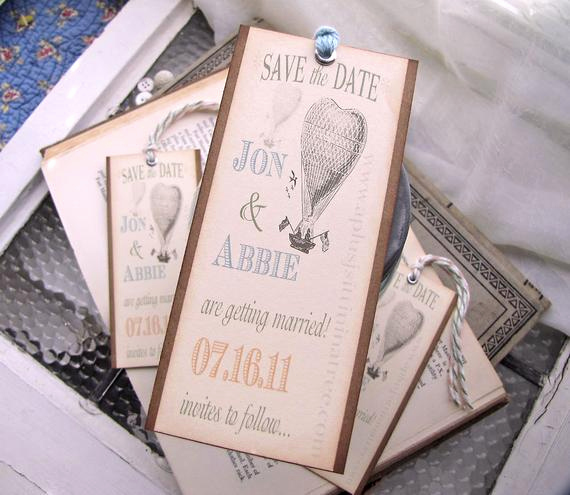 Save the Date Bookmarks Lovely Items Similar to Vintage Wedding Save the Date Bookmarks