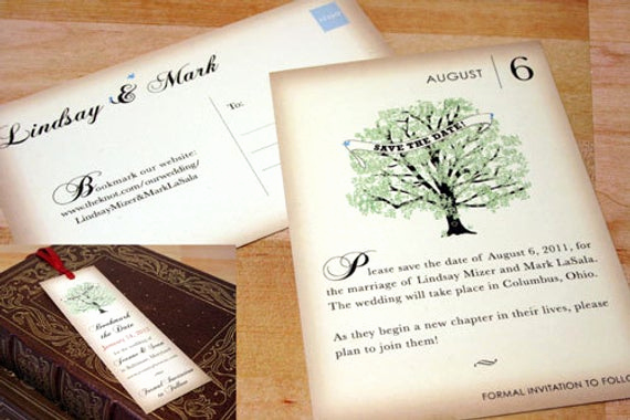 Save the Date Bookmarks Lovely Vintage Book Save the Date Cards Bookmark Magnettree