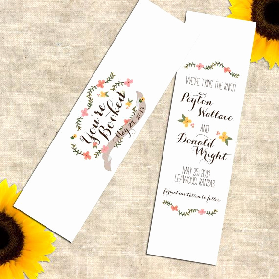 Save the Date Bookmarks Luxury Diy Printable Carolina Save the Date Bookmark I Like