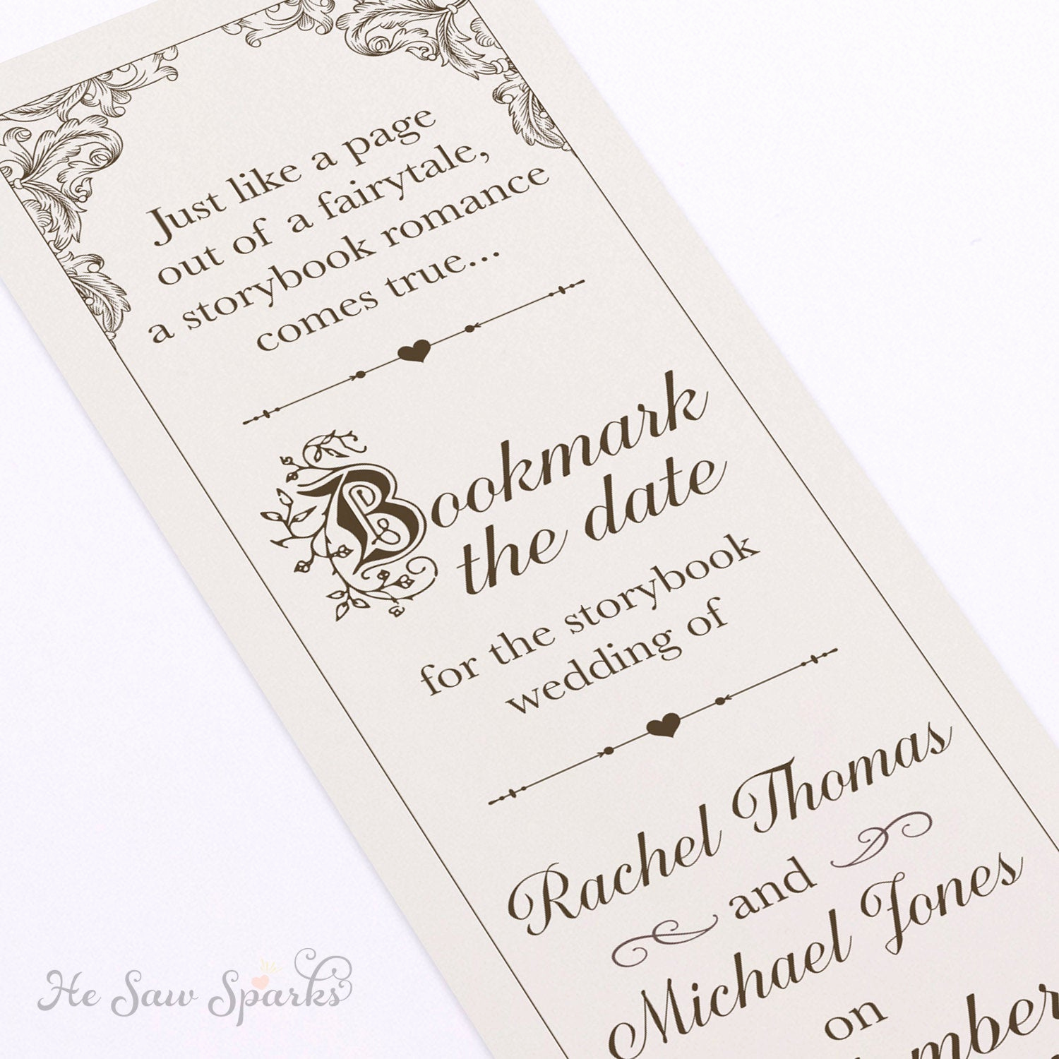 Save the Date Bookmarks Luxury Fairytale Bookmark Save the Date Diy Printable
