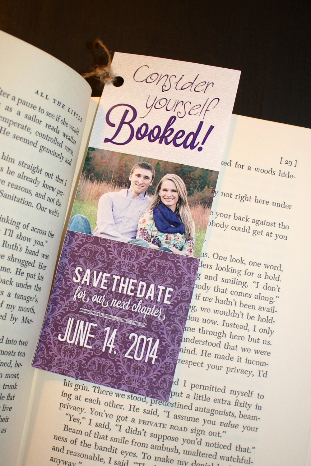 Save the Date Bookmarks New Save the Date Bookmarks Purple Digital or by