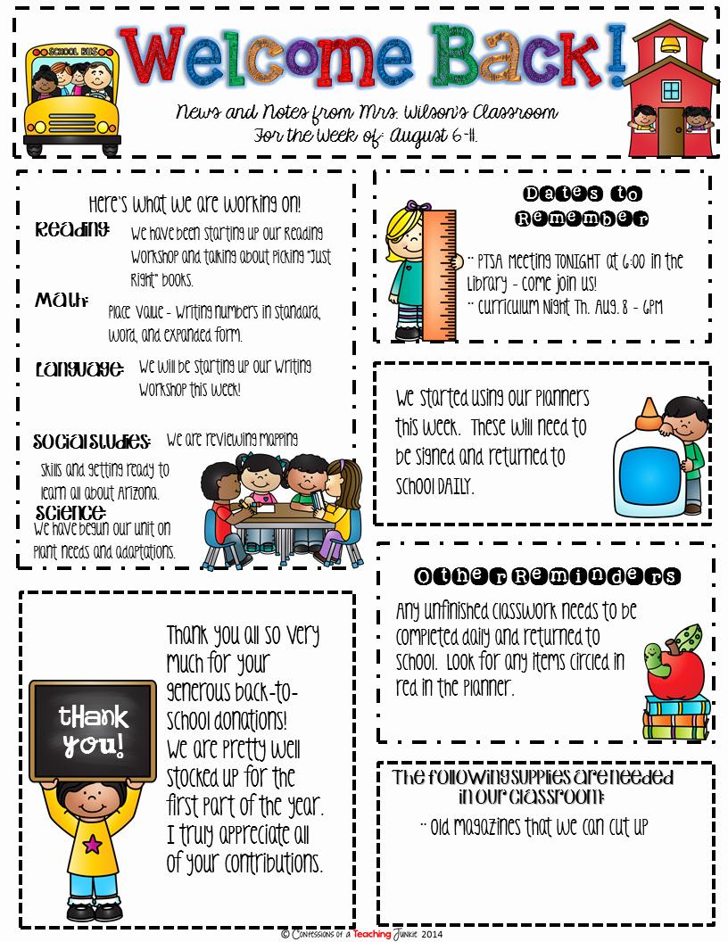 School Newsletter Templates Free Beautiful Seasonal Classroom Newsletter Templates for Busy Teachers