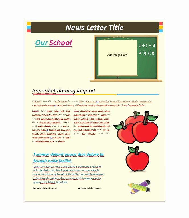School Newsletter Templates Free Elegant 50 Free Newsletter Templates for Work School and